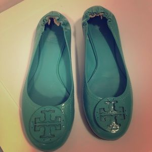Turquoise Tory Burch flats